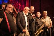 Markus Lüpertz mit Manfred Schoof, Gerd Dudek, Wolfgang Lackerschmid, Frank Wollny und Samuel Dühsler.