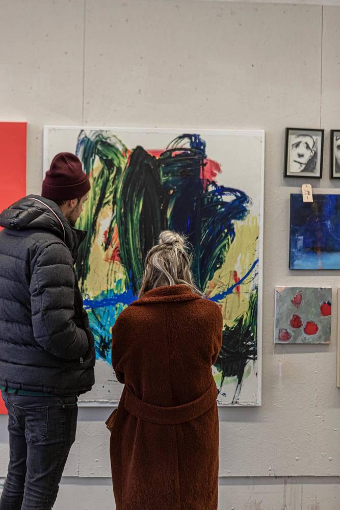 Besucher Supermarkt der Kunst